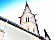 art numerique architecture church eglise strange etrange : clocher 1