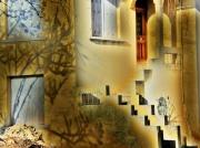art numerique architecture maison conte feerie etrange : maison abandonnée 1