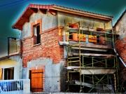 art numerique villes maison house : maison en construction
