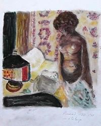 """nu à la lampe""copie de Bonnard"