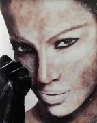 tableau : Femme au poing de cuir
