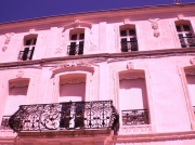 art numerique architecture rose pink immeuble : immeuble rose-bonbon