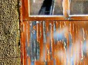 art numerique villes porte vitre peinture : effets de peinture sur une porte