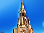 art numerique paysages clocher eglise church : clocher 2