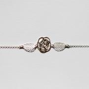 bijoux fleurs bracelet argent fleur rose : Poignet fleuri