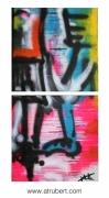 """tableau abstrait alexandre trubert artiste nantes artiste suce sur erd tableau abstrait : """"Ensemble affronter l'avenir"""""""