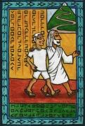 tableau personnages polynesie tahiti saint dieu : Marcher avec Dieu