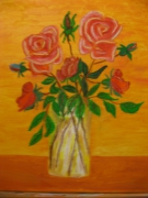 tableau fleurs : roses