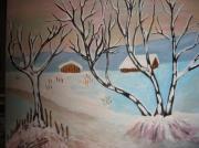 tableau paysages : Que de neige !