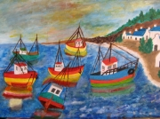 tableau marine : Port breton