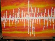 tableau abstrait : vibrations