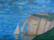 tableau marine : Aiguille d ' Etretat