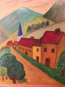 tableau paysages dans les pyrenees : Chemin de montagne