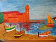 tableau marine : Collioure ,sa plage