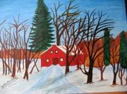 tableau paysages : Paysage hivernal