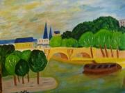 tableau marine : Le Pont Neuf à Paris