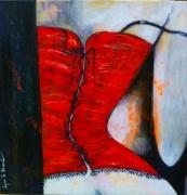 tableau personnages femme intimite erotisme scene de vie : Tenue de soirée