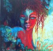tableau personnages portrait femme exotisme voyage : Maïtissée