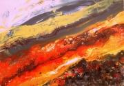 tableau nature terre roches volcan : El Teide