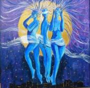 tableau personnages symbolisme sagesse femmes nuit : la Sagesse