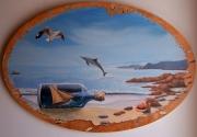 tableau marine mer trompe l oeil bateau dauphin : les mémoires d'un pirate