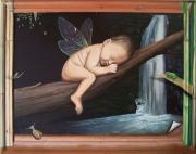 tableau bebe imagination fee trompe l oeil : la derniere fée