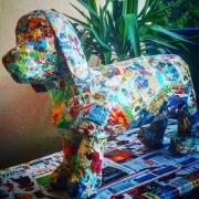 sculpture animaux mickey papier mache chien sculpture : Chien mickey