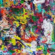 tableau abstrait toile abstraite : Abstrait flash