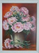 tableau fleurs fleurs tableau pivoines decor : Nature morte aux pivoines
