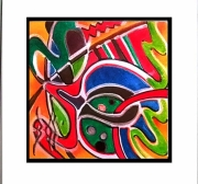 tableau abstrait abstraction expressionisme absra art brut atelier artiste : KUKULKAN