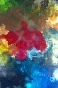 tableau abstrait floral expressionisme cire impressionisme : le jardin des rêves