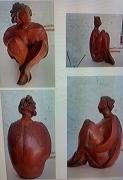 sculpture personnages : Nonchalance