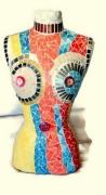 "artisanat dart nus buste mannequin mannequin mosaique mannequin vitrine buste mosaique : Buste mannequin ""printemps"""