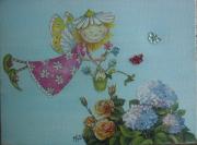 tableau enfant tableaux chambre fille : la ceuillette