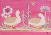 tableau acrylique enfant tableaux modele unique : des oies