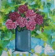 tableau fleurs fleurs toile bouquet : Roses roses