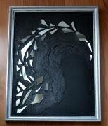mixte abstrait tableau lumiere creation miroir courbe abstraite delphine vigoureux : Courbe abstraite