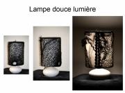 mixte abstrait lumiere d ombre creation lampe piece unique delphine vigoureux : lampe douce lumière