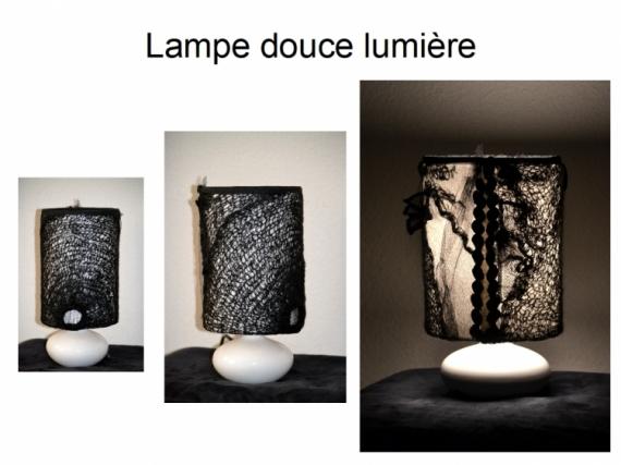 MIXTE lumière d'ombre création lampe pièce unique delphine vigoureux Abstrait  - lampe douce lumière