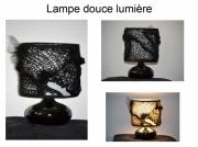 mixte abstrait lumiere d ombre piece unique delphine vigoureux creation lampe : douce lumière
