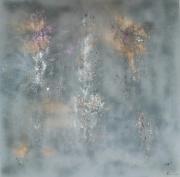 tableau abstrait abstrait tableau toile abstraite terre de lave : Étincelles