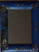 bois marqueterie personnages bleu cadre photo zen asie : CADRE PHOTO 4
