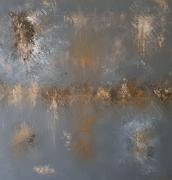 tableau abstrait tableau acrylique tableau abstrait terre de lave abstrait gris : TERRE DE LAVE