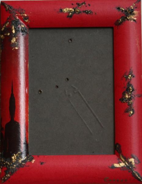 TABLEAU PEINTURE zen rouge cadre photo Personnages  - cadre photo 3
