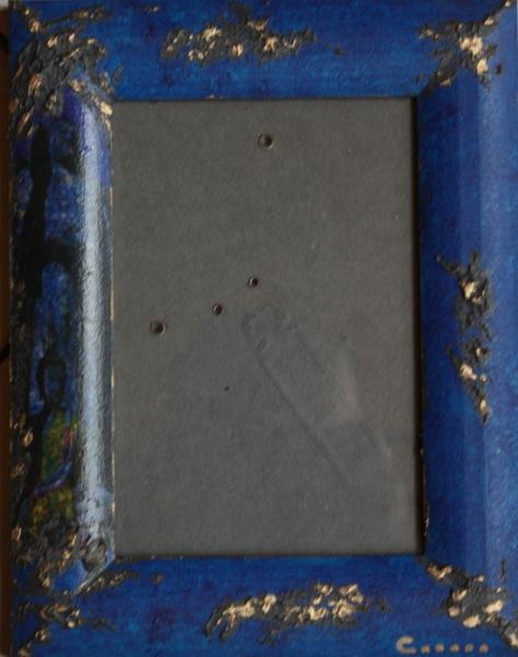 TABLEAU PEINTURE cadre photo bleu zen Personnages  - cadre photo 2