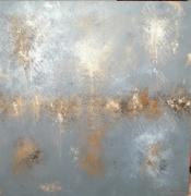tableau abstrait abstrait tableau toile abstraite terre de lave : SALAGOU