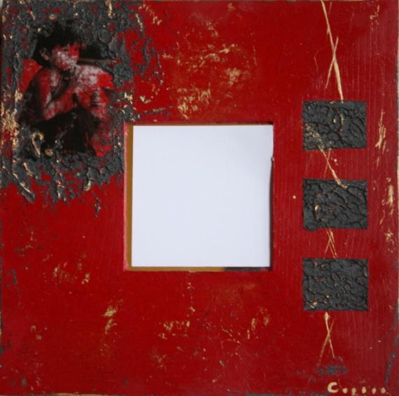 TABLEAU PEINTURE miroir zen zen miroir rouge glace Personnages Acrylique  - miroir 6