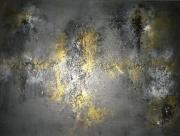 tableau abstrait abstrait tableau gris terre de lave haquin corinne : TERRE DE VOLCAN