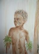 tableau personnages enfant afrique : enfant