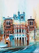 tableau architecture france lyon monument cathedrale : Cathédrale et basilique lyon